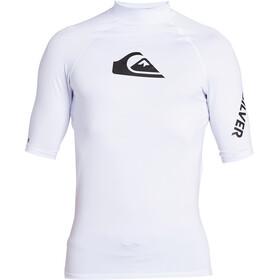 Quiksilver All Time Camiseta Manga Corta Hombre, blanco